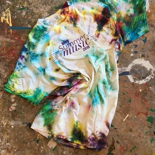 One-of-a-kind tie-dyed NOYO Summer Music 2019 T-Shirt